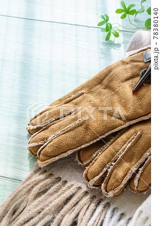 マフラーと手袋 78380140