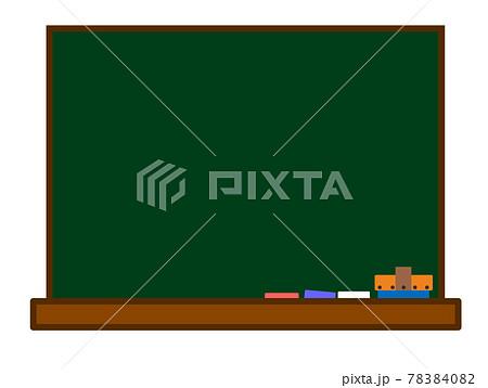 教室にある黒板とチョークのイラスト 78384082