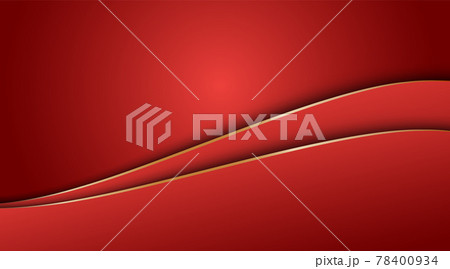 Red gradient abstract and gold curve background 78400934