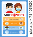Stop Covid-19 Poster 78405020