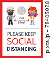 Please Keep Social Distancing Poster 78405028