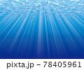 光が差し込むブルーの海中イメージ 78405961