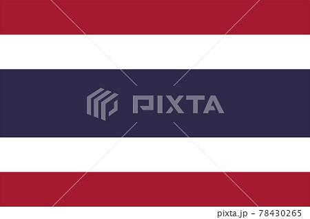 世界の国旗、タイ 78430265