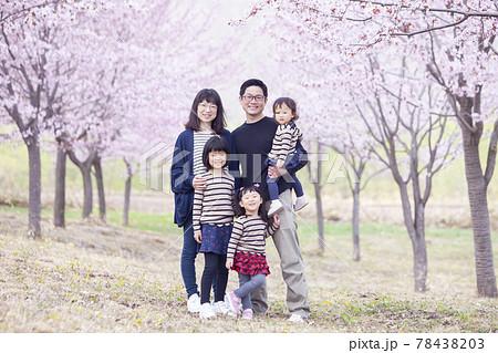 家族でお花見 78438203