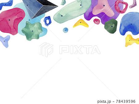 ボルダリング ロッククライミング 背景 フレーム 水彩 イラスト 78439596