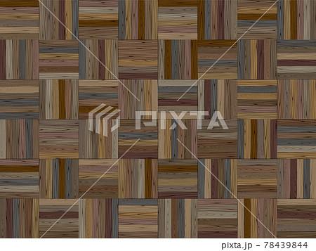 寄せ木のフローリングのシームレスなパターン 78439844