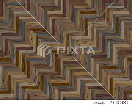 寄せ木のフローリングのシームレスなパターン 78439845