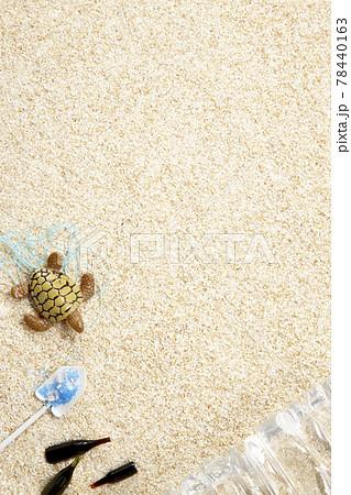 砂浜 海洋ゴミ 環境保全 プラスチック 【ミニチュア玩具】 78440163