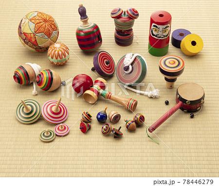伝統工芸品 集合 懐かしいおもちゃ 縁起物 78446279