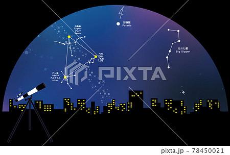 天体観測 夏の大三角形 78450021