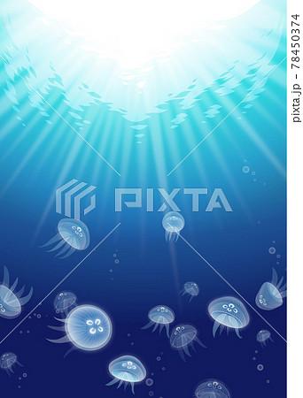 クラゲの漂う海 78450374