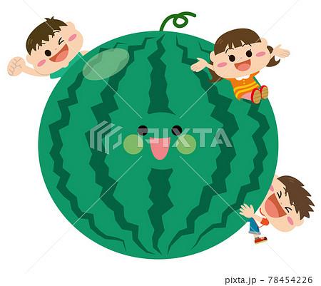 果物/スイカと子どもたち 78454226