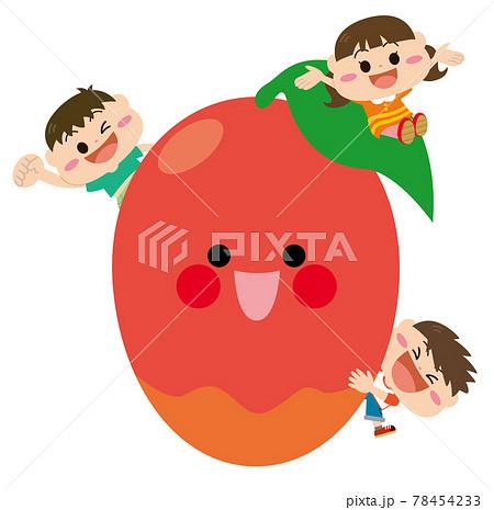 果物/マンゴーと子どもたち 78454233