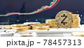 ZCASH cryptocurrency token ZEC digital crypto currency coin for defi decentralized financial banking p2p business and world stock exchange investment via internet online technology 78457313