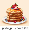 Toaster waffles in 3d illustration 78470302