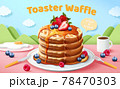 3d toaster waffle banner ad 78470303