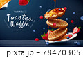 3d toaster waffle banner ad 78470305