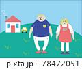 田舎暮らしの男性と女性 78472051