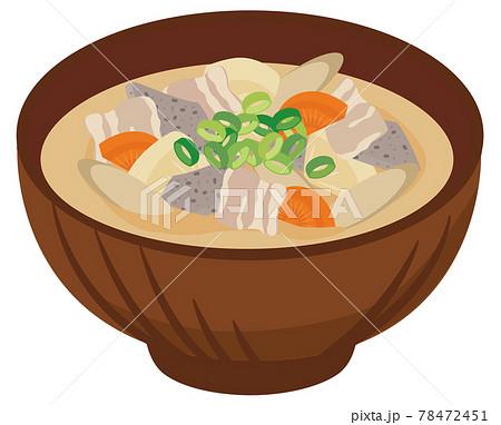 食事★和食イラスト 豚汁 78472451