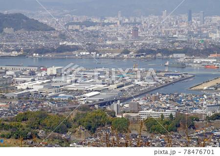 愛宕神社から眺めた春の広島の景色 78476701