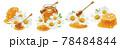 Honey and chamomile set isolated on white background 78484844
