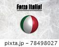がんばれイタリア(イタリア語) 応援メッセージ 78498027