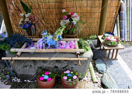 三重県明和町に有る竹神社の花手水 78498693