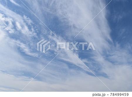 大海を渡って行く躍動的なすじ雲② 78499459