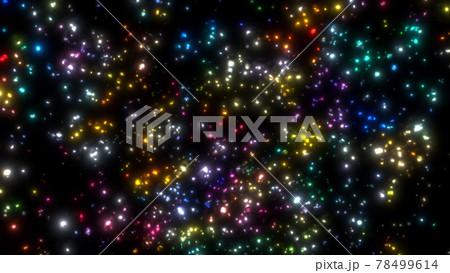 舞って浮遊するゴージャスでエレガントなカラフルなパーティクル粒子 78499614