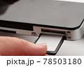 SDカード 手元 78503180