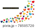 SDGsイメージの水彩ハート型のラインイラスト 78505720