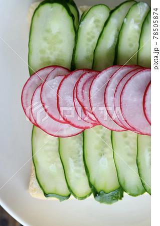 サンドイッチ 野菜のオープンサンド 78505874