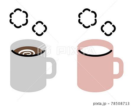 ホットココア(コーヒー)/ホットミルク シンプル・ペン画風イラスト 78508713