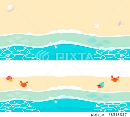 波打ち際、砂浜のバナー背景素材 78513357