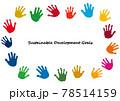 SDGsイメージの手の形のアイコンフレーム 78514159