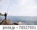 磯釣りをする男性 78527031