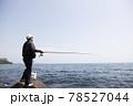 磯釣りをする男性 78527044