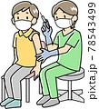 注射をする女性看護師 78543499