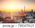 Tokyo, Japan Modern Urban Skyline 78547015