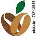 コーヒー豆 コーヒーの木 ロゴ 78548686