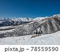 白馬乗鞍温泉スキー場から見たHAKUBAVALLEY 78559590