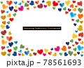 SDGsイメージの水彩ハートのフレーム 78561693