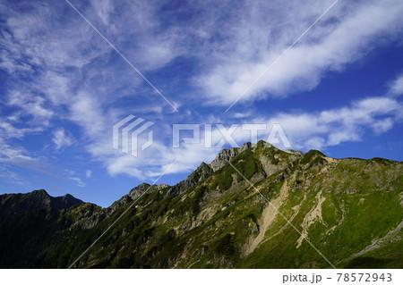 北アルプス五竜岳、遠見尾根ルートの眺望 78572943