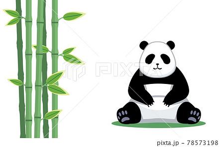 パンダと笹のイラスト素材 78573198