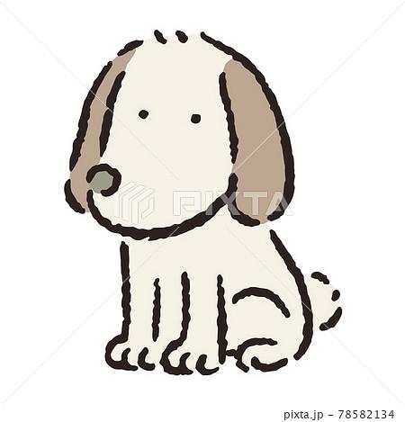 動物_犬_おすわり_垂れ耳 78582134