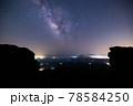 《大分県 九重》扇ヶ鼻山頂から見る天の川 78584250