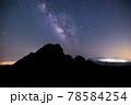 《大分県 九重》扇ヶ鼻山頂から見る天の川 78584254