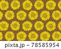 ひまわりのイラストの夏イメージの背景素材 78585954