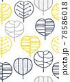 北欧風の植物のシームレスパターン 78586018