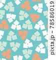 北欧風の花のシームレスパターン 78586019